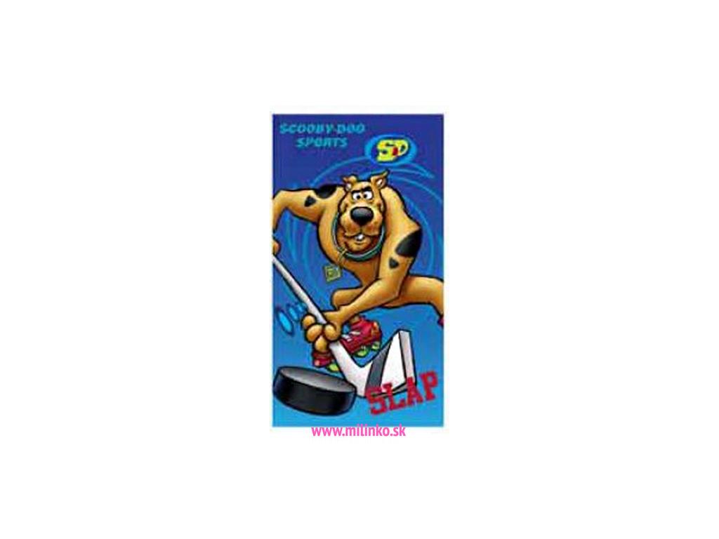 Detský uterák DISNEY - SCOOBY DOO sport, modré (35 x 65)