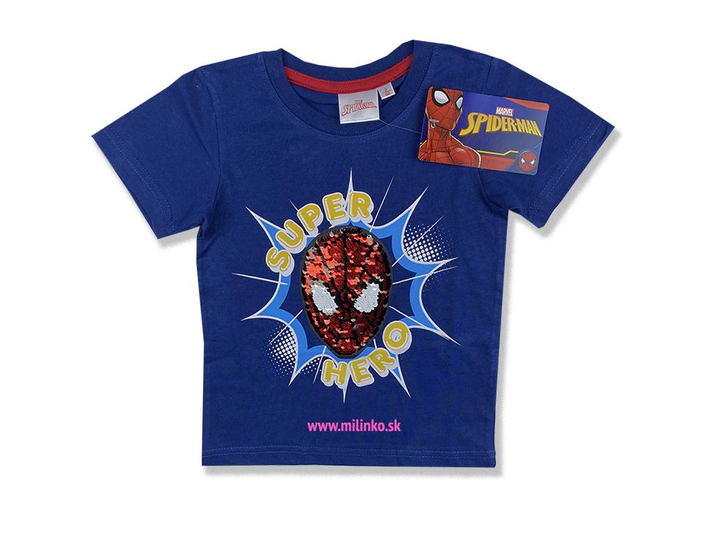 detské tričko spiderman s flitramy