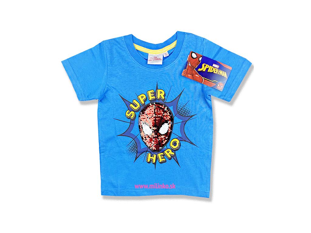 detské tričko spiderman s flitramy 2