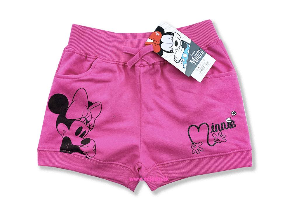 detské oblečenie krátke nohavice minnie mouse2+