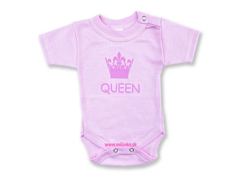 detské body krátky rukáv princezná1+