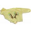 Detské pyžamo - ŽIRAFA, žlté
