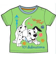 Tričko pre bábätká, krátky rukáv - 101 DALMATíNCOV, zelené