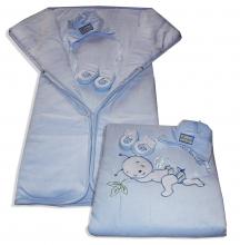 Teplučký spací vak 3v1- BEE, modrý