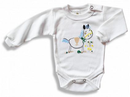Detské body - KONÍK, biele