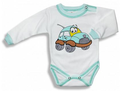Detské body –AUTO, zeleno-biele