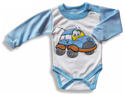 Detské body – AUTO, modro-biele