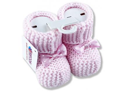 Štrikované kojenecké papučky od 0 do 6 m