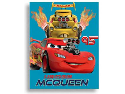 Detská deka Disney - CARS, modrá, 120x150cm