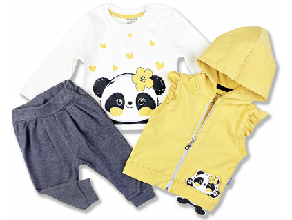 3dielny kojenecký set panda1