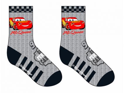 Detské ponožky Disney Cars sivé