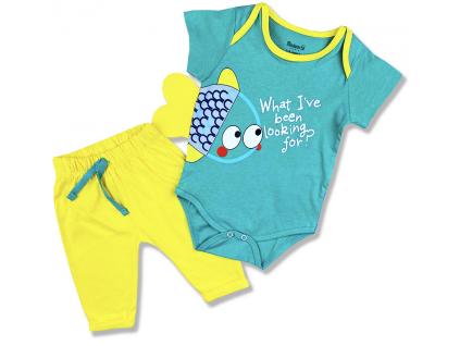 2dielny set pre bábätká Rybička, zelenožltý