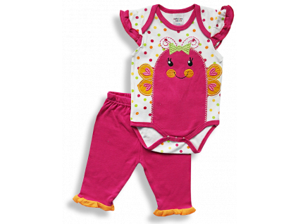 2dielny komplet pre bábätká - MOTÝLIK,pink