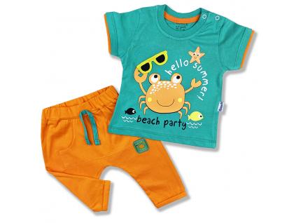 2dielny letný set pre bábätká Párty na pláži