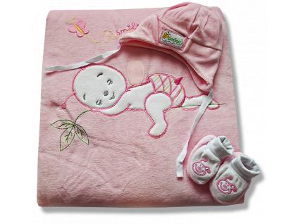 Teplučký spací vak 3v1- BEE, bl. ružový