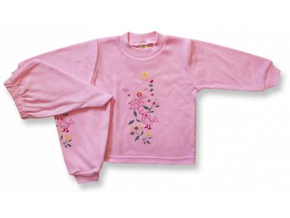 Detské pyžamo - VTÁČIK, ruž