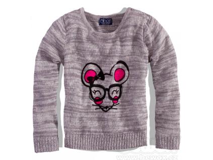 Dievčenský sveter - Myška,