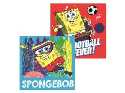 Detský ručník Disney- Spongebob, 2ks (30x30)