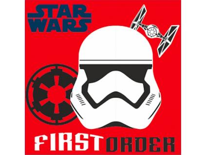 Detský plyšový vankúš - STAR WARS, červený