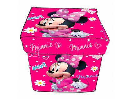 detsky ulozny box taburetka Minnie mouse