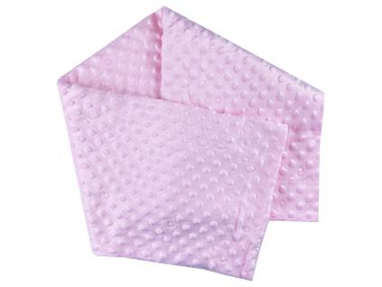 deka fluffy ružová