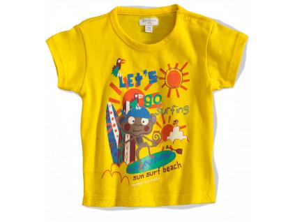 Tričko pre deti s krátkym rukávom- OPICA, žlté