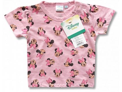 Tričko pre bábätká, krátky rukáv - Minnie, ružové