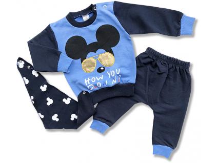 3dielny set pre bábätká - Mous, modrý