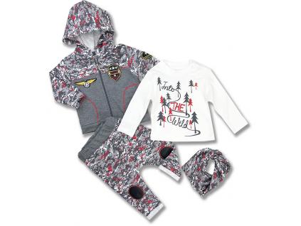 kojenecké oblečenie army 4 maskáčové