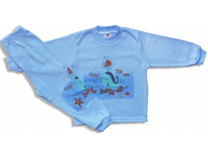 Detské pyžamo - VEĽRYBA, modré