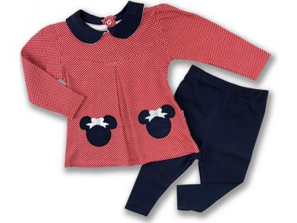 kojenecké oblečenie mouse červené