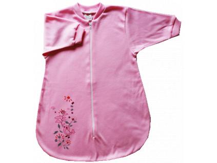 Spací vak pre bábätká- VTÁČIK, ružový