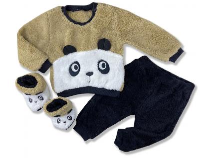 kojenecké oblečenie panda plyš