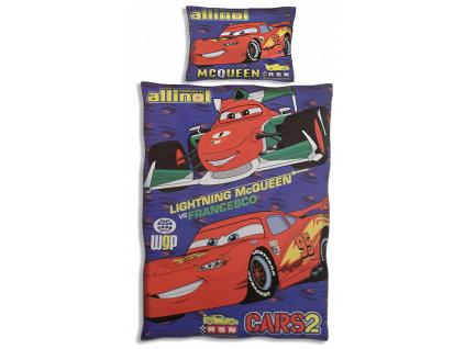Detské obliečky DISNEY – CARS2, modré (140 x 200)