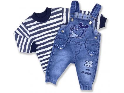 džínsové nohavice pre bábätká