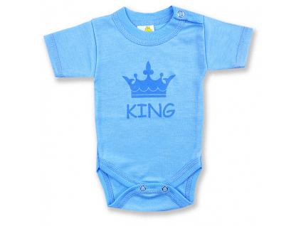 detské body krátky rukáv king