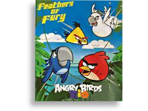 Detská deka Fleesová - Angry Birds,modrá 120x150cm