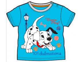 Tričko pre bábätká, krátky rukáv - 101 DALMATíNCOV, modré