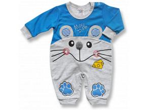 Overal pre bábätká - Myška, modrý