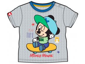 Tričko pre bábätká, krátky rukáv - Mickey Mouse, sivé