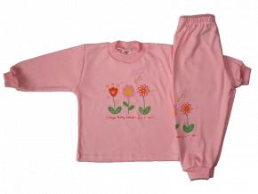 Dievčenké pyžamo - KVIETOk, ružové