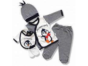 4dielny kojenecky set pingvin