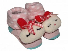 Ponožky pre bábätká - ZAJAČIK