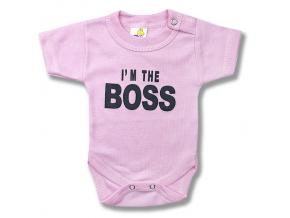 detské body krátky rukav boss3