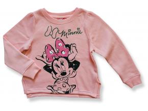 Dievčenský pulóver Disney- MINNIE, pudrový