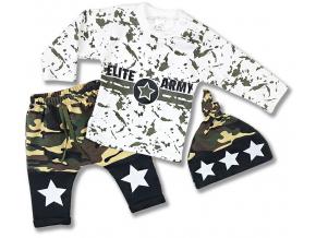 kojenecké oblečenie army biele