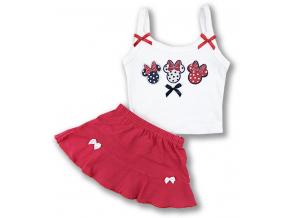letný set pre bábätká so sukničkou1