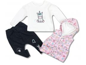 3 dielne oblečenie pre bábätká unicorn 1