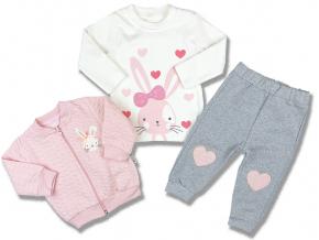 3 dielne oblečenie pre bábätká zajačik