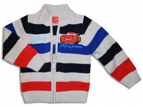 Detský pletený sveter - CARS, sivé